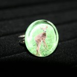Deer Glass Ring