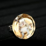 Squirrel Glass Ring