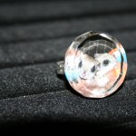 Flying Squirrel Glass Ring