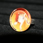 Maple Squirrel Glass Ring