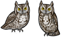 Screech Owl Earrings